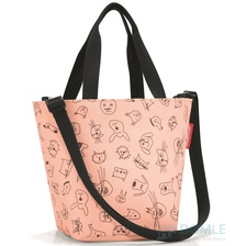 Сумка детская Shopper XS cats and dogs rose
